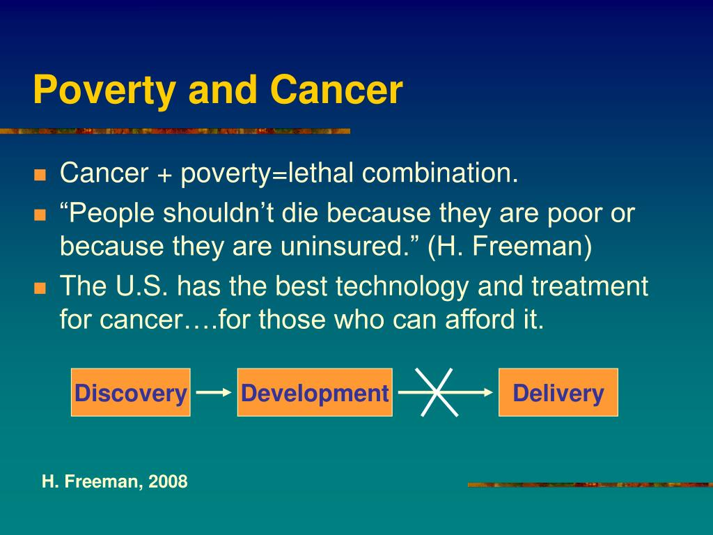 Poverty and Cancer
