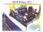 slot printer 1972