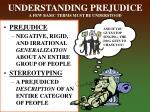 understanding prejudice a few basic terms must be understood