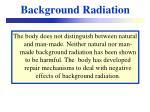 background radiation14