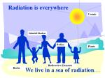 radiation is everywhere