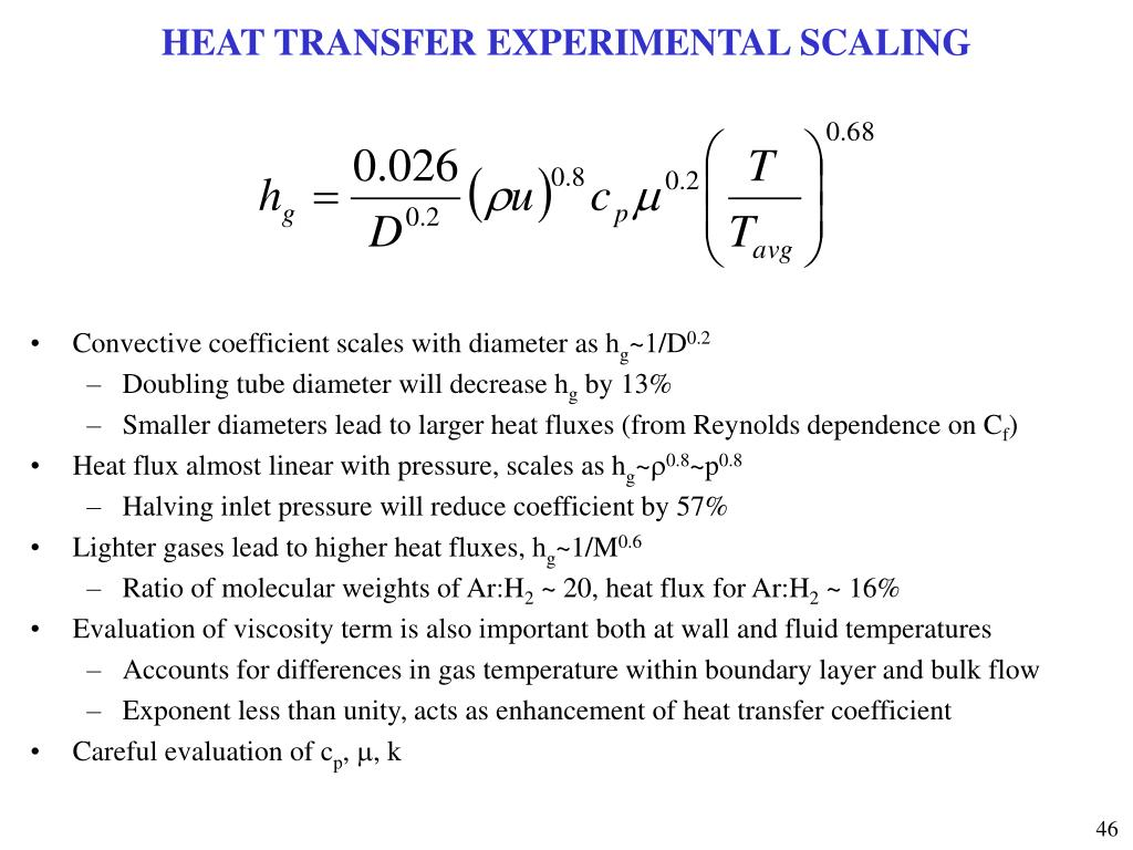 HEAT TRANSFER EXPERIMENTAL SCALING