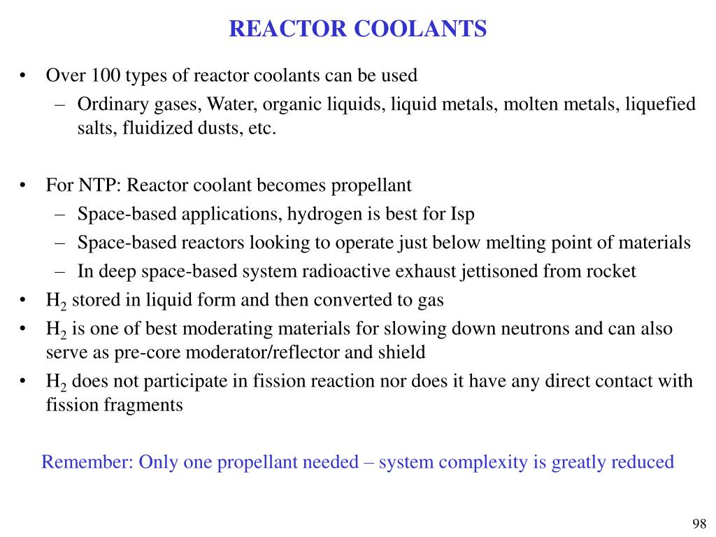 REACTOR COOLANTS