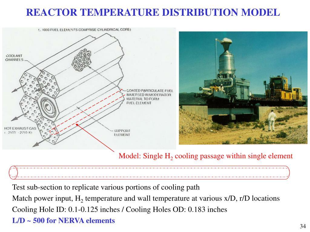 REACTOR TEMPERATURE DISTRIBUTION MODEL