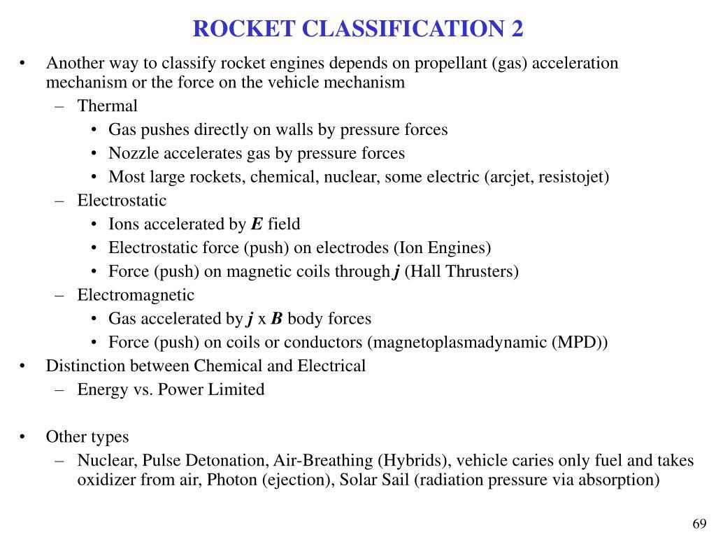 ROCKET CLASSIFICATION 2