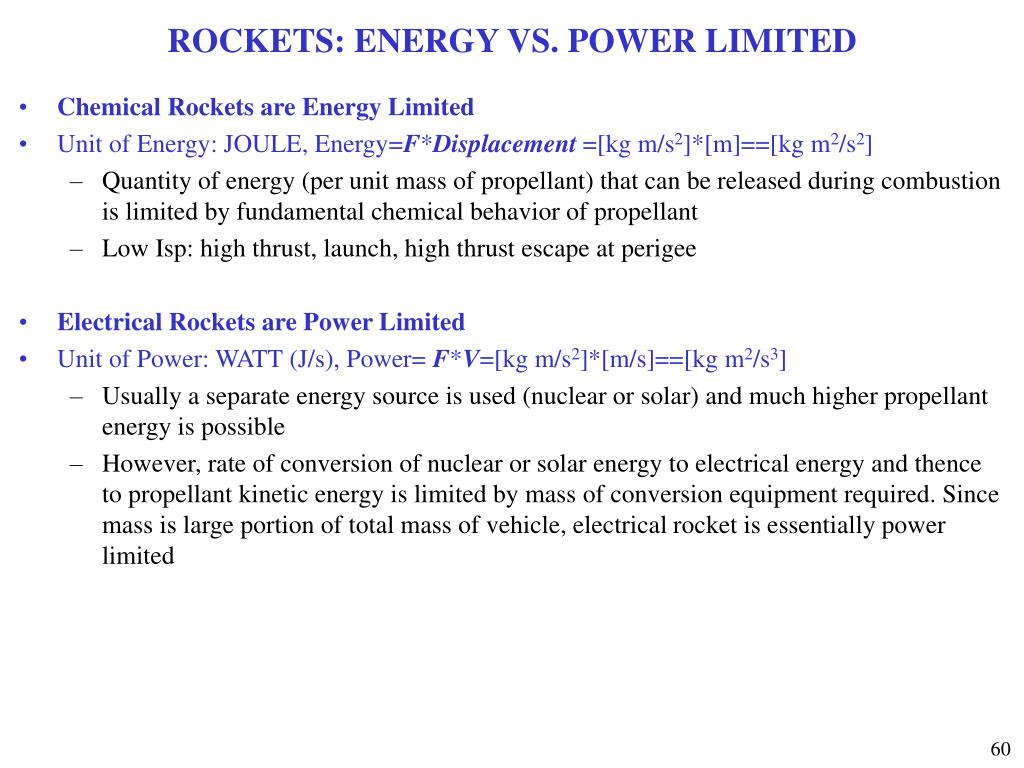 ROCKETS: ENERGY VS. POWER LIMITED