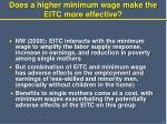 does a higher minimum wage make the eitc more effective