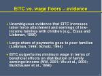 eitc vs wage floors evidence