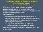 how can higher minimum wages increase poverty