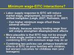 minimum wage eitc interactions