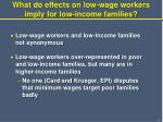 what do effects on low wage workers imply for low income families