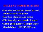 dietary modification