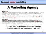 a marketing agency
