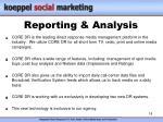 reporting analysis