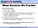 what services we provide