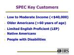 spec key customers