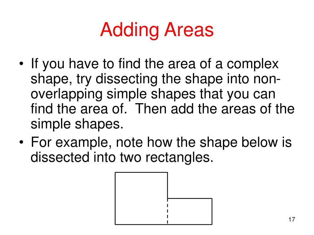 Adding Areas