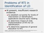 problems of rti in identification of ld11