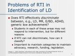 problems of rti in identification of ld4