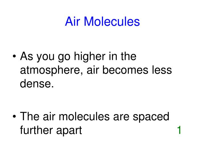Air molecules