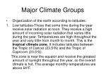 major climate groups