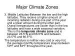 major climate zones44