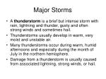 major storms