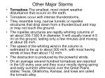 other major storms