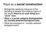 race as a social construction