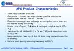 aps product characteristics