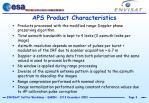 aps product characteristics3