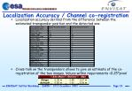 localization accuracy channel co registration