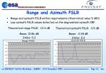 range and azimuth pslr