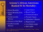 arizona s african americans ranked 1 in mortality