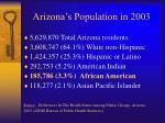 arizona s population in 2003