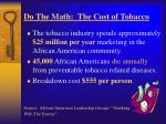 do the math the cost of tobacco