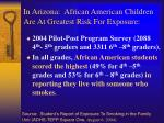 in arizona african american children are at greatest risk for exposure
