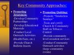key community approaches