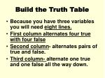 build the truth table