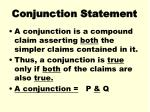 conjunction statement