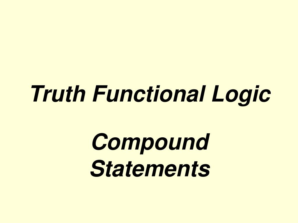 truth functional logic l.