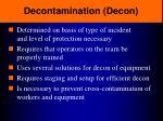 decontamination decon