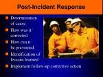 post incident response