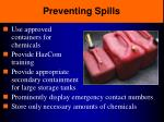 preventing spills