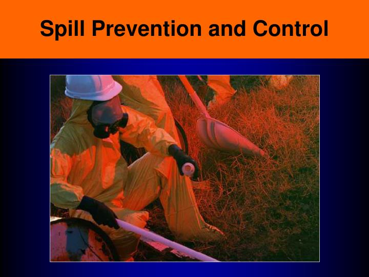 spill prevention and control n.
