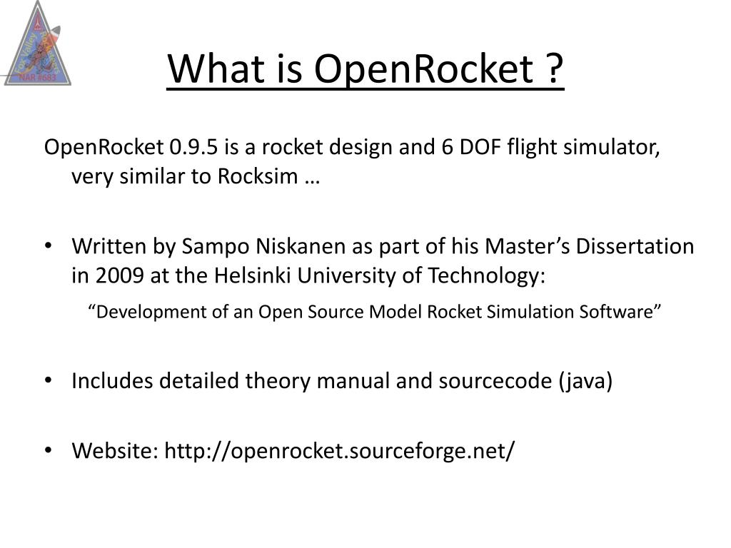 PPT - OpenRocket Simulation Software NARCON – Mar 13, 2010