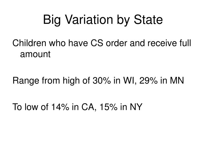 Big Variation by State