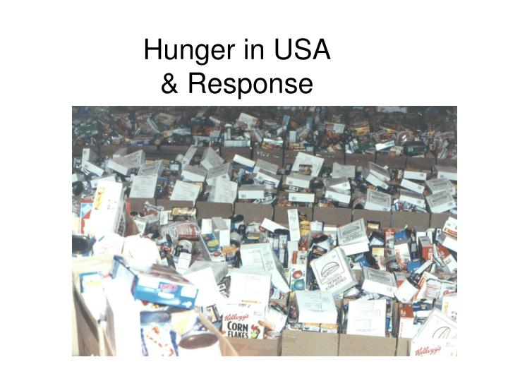 Hunger in USA