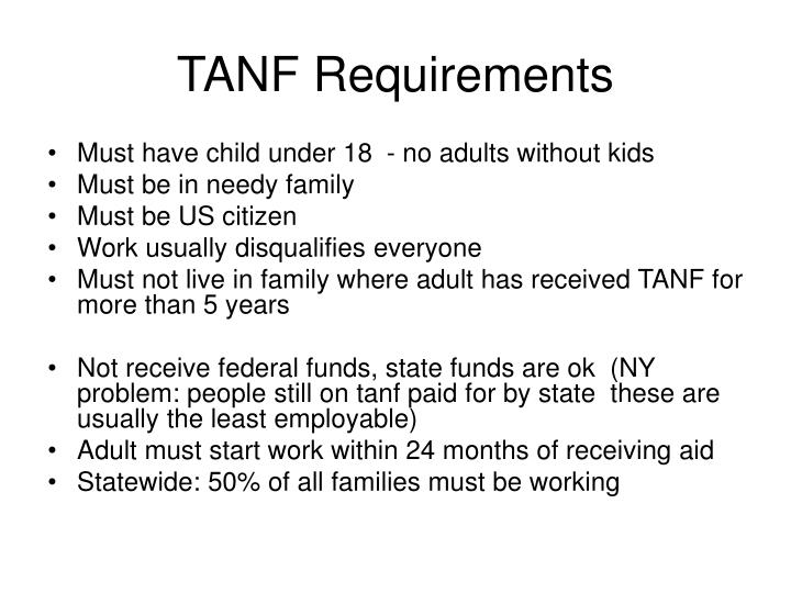 TANF Requirements
