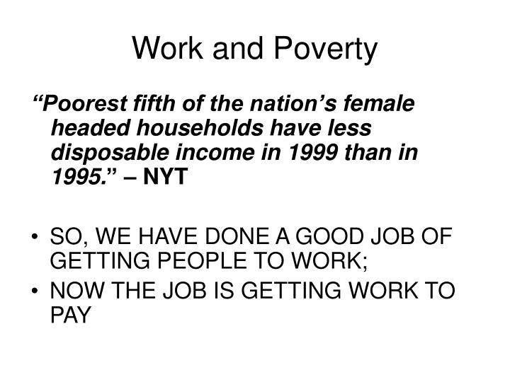 Work and Poverty